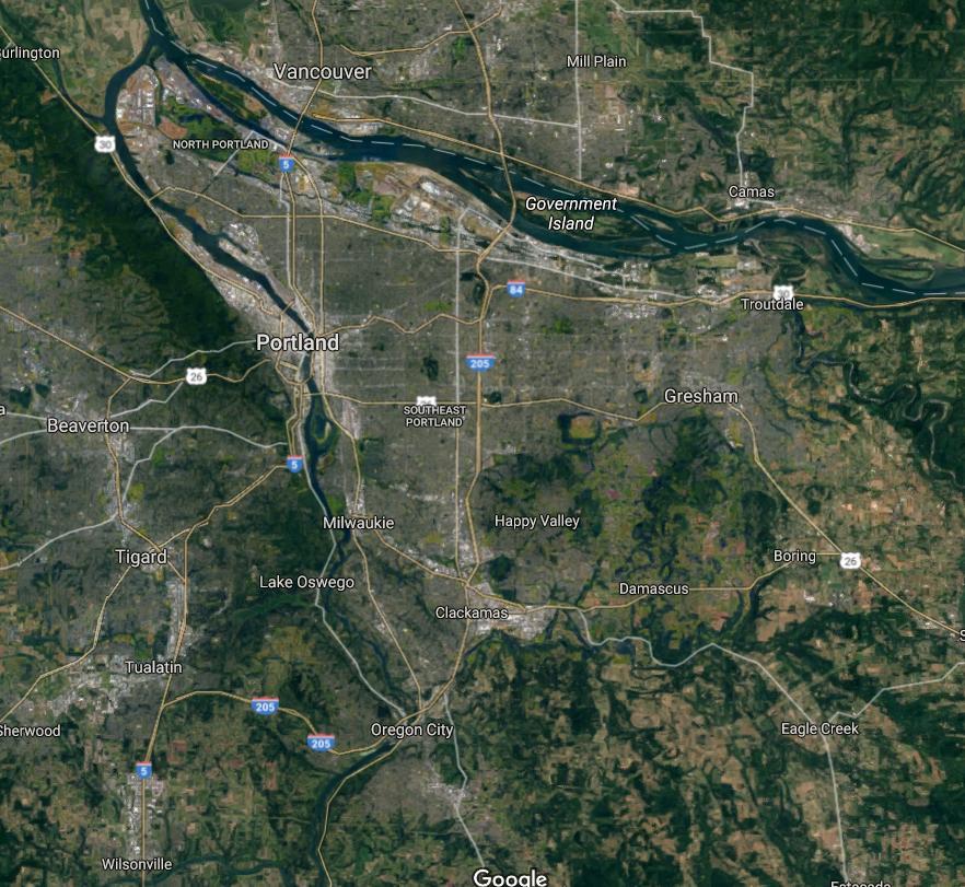 Portland Area Map